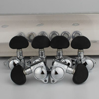 Wholesale black electric guitar tuning pegs resale online - 3R3L Grover Electric Guitar Machine Heads Tuners Chrome Tuning Pegs Black ABS handle