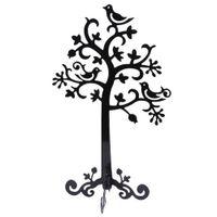 jóias árvore rack venda por atacado-Metal Colar Pulseira Organizador De Armazenamento De Jóias Hanger Tree Shaped Display Rack (Black)
