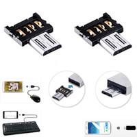 adaptador usb teclado al por mayor-Mini USB 2.0 Adaptador convertidor OTG Micro USB Micro Macho a USb Tarjeta otg femenina adaptador de lectura para teléfono móvil tablet pc teclado