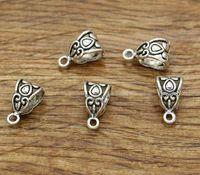 european tibetan style beads achat en gros de-Bail Perle Curseur Entretoise Perle 100pcs / lot Pour Bracelets De Style Européen ou Grand Perles Trou Perles Tibétain Antique Ton Argent 4x7x3 1964