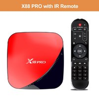 Wholesale android tv box red resale online - X88 Pro Android TV Box G16G G32G G64G RK3318 USB3 G Wifi Smart TV box