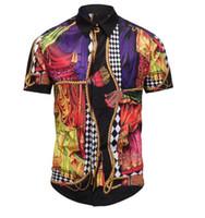 chemise xxl al por mayor-Degb Chemise DG Camisas de vestir para hombres Diseñador de lujo Medusa Camisas casuales Moda de verano de manga corta Retro Tiger Estampado floral Marca Giv camisa
