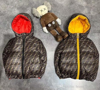 Wholesale baby boys new clothing resale online - 2020 New Luxury Baby Boys Down Cotton Jacket Baby Boys Hooded Coat Children Clothing Warm Thick Jackets Baby Girls Boys Clothes Outerwear
