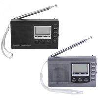 Wholesale mini sw receiver resale online - Multifunction FM Radio Portable Mini Radios FM MW SW Full Band Receiver With Digital Screen Display Alarm Clock FM Stereo Radio Receiver