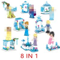 Wholesale block princess for sale - Group buy Mini Girl Princess Series Building Block Ice Castle Building Blocks Bricks Educational Puzzle Toys For Children Gifts IN