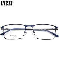 armações ópticas para machos venda por atacado-LYCZZ Retro Clássico Armação De Metal Óculos Homens Meninos óculos de Miopia óptica Quadrado Masculino ultraleve Titanium Óculos Claros Eyewear