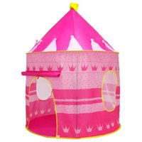 Wholesale castle games online - DIY Tent Toy Ger Castle Play House with Cloth for Children Outdoor Parent child Games About Develop Capacity