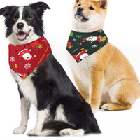Wholesale bandanas for female dogs resale online - Christmas Cat dog bandana Bibs Scarf Collar Pet Neckerchief Scarf Waterproof Saliva Towel for Medium Large Dogs Accessories