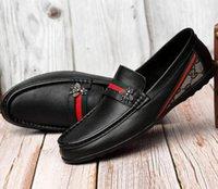 zapato de moda casual al por mayor-Gucci shoes  recorrido de la manera salvaje calzados informales de los hombres cómodos antideslizantes zapatos transpirables resistentes al desgaste de los hombres