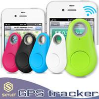 buscador de llaves al por mayor-Mini GPS Tracker Bluetooth 4.0 GPS Alarma iTag Buscador de llaves Anti-perdida Selfie Shutter Con Retail Pakcage