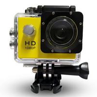 su altı lens toptan satış-1080P HD Dijital Kamera 30 Metre 140 ° Geniş Açı Lens Derinlik Su geçirmez Sualtı Sporları Kamera Kamera Dalış Turu SJ40000