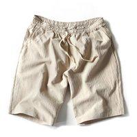 pantalon en lin noir hommes achat en gros de-Mode d'été Nouveau Hommes Lin Shorts en vrac plage pantalons courts pour les hommes Noir Court Pantalon M-5XL