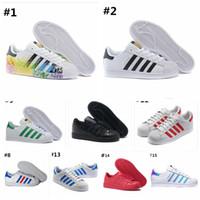 chaussures de femmes les plus chaudes achat en gros de-2019 Chaussures de sport superstar smith stan, chaussures de sport pour femmes, chaussures plates pour femmes Zapatillas Deportivas Mujer Lovers Sapatos Femininos 36-45