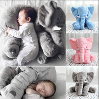 Wholesale fast toys resale online - colorful Baby Elephant Plush Stuffed Doll CM Long Nose Kids Cushion Lumbar Pillow Sleep Pillow Cartoon Cute Animal Toys with fast ship