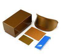 ingrosso abbigliamento scatola marrone-Nero Marrone Rosso Occhiali da sole pacchetti Box con occhiali Abbigliamento Occhiali da sole di alta qualità Custodia nera Accessori per occhiali
