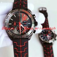 черное стальное запястье оптовых-роскошные наручные часы сенны F1 черный стальной корпус резиновый ремешок спортивный кварцевый механизм многофункциональный хронограф CAZ1019 мужские часы