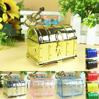 Wholesale candy wedding favor boxes silver for sale - Group buy Vintage Grid Treasure Candy Box Gift Box Golden Silver Transparent Wedding And Party Sweet Sugar Favor Packaging