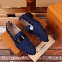 c054f41bd Sapatos de Negócios Denim Azul 2075 Guan Men Dress Shoes Botas Mocassins  Motoristas Fivelas Sneakers Sandálias