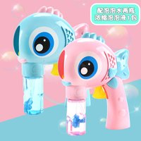 ingrosso nuovi giocattoli per grandi ragazzi-New Big Eye Fish Bubble Gun Inerzia Child Automatic Water Hand Blow Bubble Machine Toy per bambini Girl Boys Set da gioco all'aperto
