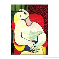 Wholesale picasso arts for sale - Group buy A Picasso Dreaming Woman Abstract Handpainted Pop Art Oil Painting On Canvas Wall Art Home Decor High Quality p127