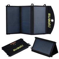 Wholesale foldable solar chargers resale online - suaoki W Foldable Dual Port Solar Charger GPS