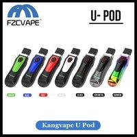 vape u al por mayor-Auténtico Kangvape U-Pod Starter Kit 650mAh Precaliente VV Pod Dispositivo Estilo clave E Cigarrillo Vape Pod COCO Mngo Compatible 100% Original