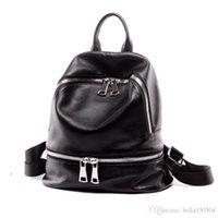 gute qualität handtaschenmarken großhandel-GUTE QUALITÄT Marke im europäischen Stil Rucksack Luxus Echtes Leder Designer Multi-Pocket-Paket Unisex Rucksäcke Handtaschen beliebte Reisetasche