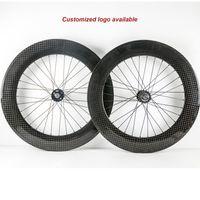 700C Clincher Carbon Fixed Gear Wheelset 88mm Depth Carbon Fiber Road Bike 23mm Width Bicycle Carbon Wheelset