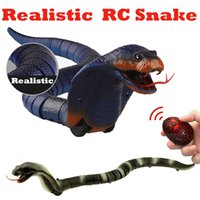 Wholesale old remote control for sale - Group buy Infrared Remote Control Cobra Snake Toy RC Simulation Animal Surprise Trick Terrify Mischief Safari Garden Props Joke Prank Gift