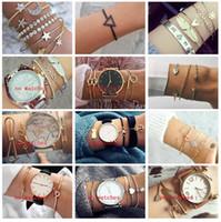 bracelets tissés achat en gros de-20 styles Bohème À La Main Tissage Coeur Long Tassel Bracelet Ensembles Femmes 2018 Nouveau Gris Corde Chaîne Bracelets Bijoux Cadeau De Noël ALXY001
