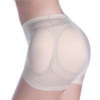 calcinha slimming do quadril venda por atacado-Mulheres Sexy Almofadas Enhancers Ass Falso Hip Butt Lifter Shapers Controle Calcinha Removível Acolchoado Emagrecimento Cueca