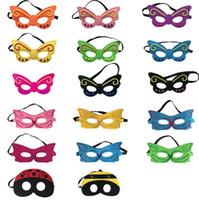 маска бабочки для детей оптовых-Kid's Cosplay Eye Mask Butterfly Bee Mask красочные Тени для век Дети Party Masquerade Performance Хэллоуин Косплей Костюмы Талисмана CLS286
