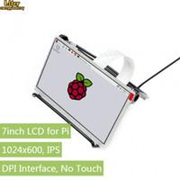 zero, framboesa venda por atacado-7 polegadas IPS Display para Raspberry Pi, interface DPI, sem toque, 1024x600, compatível com Raspberry Pi 2B / 3B / Zero / Zero W