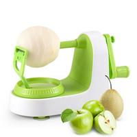 máquinas de corte de frutas al por mayor-Herramientas creativas de vegetales con frutas Peeling de Apple Multifunción Manual Pelador de frutas Máquina de corte Accesorios de cocina de Apple