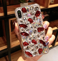 Wholesale bling full diamond case iphone online – custom Glitter Full Diamond Back Cover Handwork Rhinestone Bling Phone Case Shell with Leather Tassel Tide for iPhone PROMAX samsung s20p
