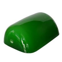 lámparas de vidrio verde al por mayor-Lámpara de vidrio verde Sombra de reemplazo Banqueros Pantalla de vidrio