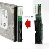 ata hdd 2.5 venda por atacado-7 + 2,5 15 pinos Sata fêmea de 3,5 polegadas IDE Sata para IDE conversor adaptador macho 40 pino porta para ATA 133 100 HDD CD DVD nova série