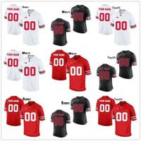 ingrosso punto di jersey di calcio-Personalizzato OSU Ohio State Buckeyes hanno cucito qualsiasi nome qualsiasi numero mens donne giovani 7 Dwayne Haskins Jr.College Pallacanestro Kids Jersey