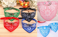 Wholesale large pet bandana for sale - Group buy Pet Dog Cat Bandana Scarf Collar Neckerchief Adjustable Dog Collars Triangle Pet Collar Bow Tie Dog Accessories KKA7030