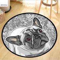 Wholesale floor table chair for sale - Group buy AOVOLL Creative Special Dog Round Carpets For Living Room Bedroom Kid Room Rug Soft Decorate Chair Table Floor Door Mat Area Rug