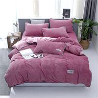 Wholesale super king sized bedding online - Super Soft Embossed Winter Bedding Sets Coral Fleece Embossed Sheet Pillowcase Duvet Cover Single Queen King Size Bedding Sets
