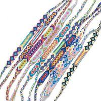 cheville nouveau style achat en gros de-Nouveau Style Weave Strand Bracelet Ensemble Corde Tressée Bracelet À La Main DIY Bohême Style Tissé Bracelet de Cheville de Cheville Pour Femmes Filles Amis M571Y