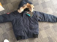 satılık kış erkekler parkas toptan satış-2018 adam Kanada Yeni Varış Satış erkek Guse Château Siyah lacivert Gri Ceket Aşağı Ceket Kış Coat Parka Satış XS-XXL