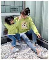 2019 Spring Autumn long sleeve father daughter baby girl boy T-shirt black clothes Family Matching Outfits green