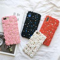 iphone kirschblütenkoffer großhandel-Neue kirschblüte kristall tpu hohl stoßstange telefon case für iphone xs max / xr x 8/7/6 plus langlebig tropfenfest schützen telefon rückseite