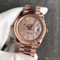 ouro relógio mens 18k automático venda por atacado-2019 Nova DAYDATE 18 K Full Rose Gold fecho original Mens Relógios Day-Date Presidente 116719 Relógios Automáticos MEN frete grátis