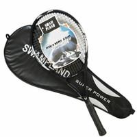 equipar bolsas al por mayor-Raqueta de tenis de fibra de carbono profesional Raqueta de tenis Tamaño 4 1/4 raquetas equipadas con bolsa de sobregrip Racchetta De