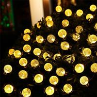 ingrosso luci solari acriliche-Solar LED Crystal Ball Decorative Lights String Acrilico Natale Bubble Ball Decorative Lights String 4.8 Metri 20 teste