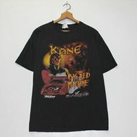 vintage yarış toptan satış-Vintage Kane WWF Yarış T-Shirt Boyutu Büyük BlaHarajuku Kırmızı Güreş