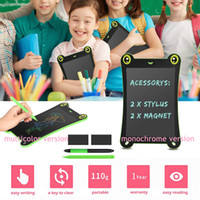 Wholesale kids educational tablets resale online - 8 Inch Color Screen LCD Frog Writing Tablet Drawing Handwriting Pads Children Puzzle Educational Writing Board Development Kids Brain